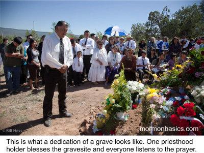 Dedication of Grave - w cap