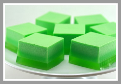 Green Jell-O comes in many forms.